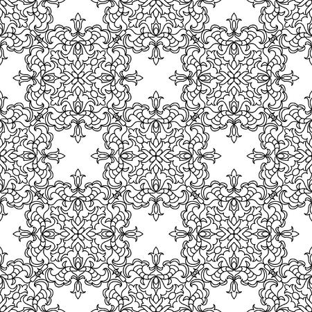 seamless pattern: Abstract mandala seamless pattern