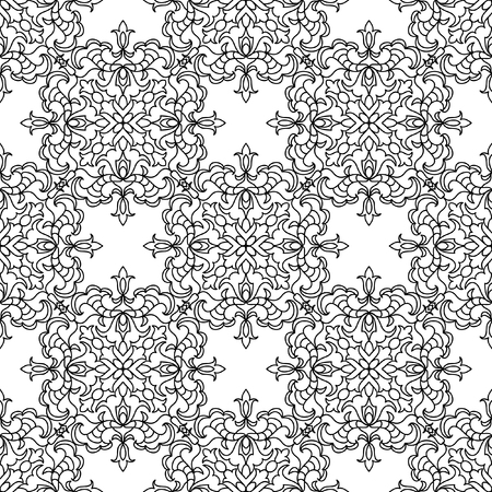 cartoon adult: Abstract mandala seamless pattern