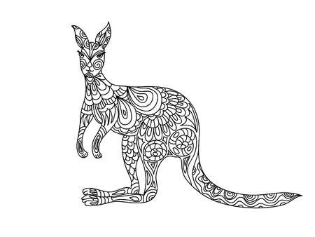 kangaroo white: Kangaroo  coloring page