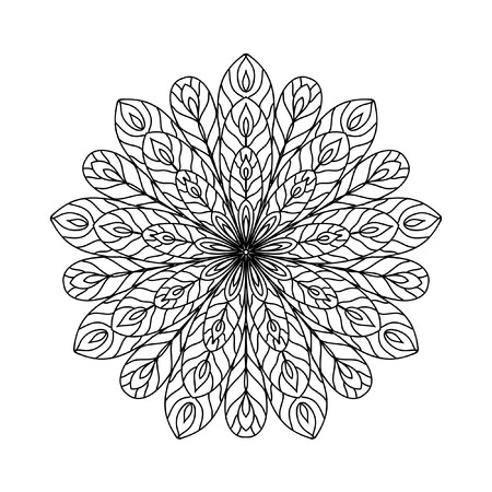 coloring pages to print: Abstract zentangle coloring page Illustration