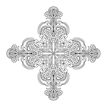 abstract cross: Abstract cross mandala element