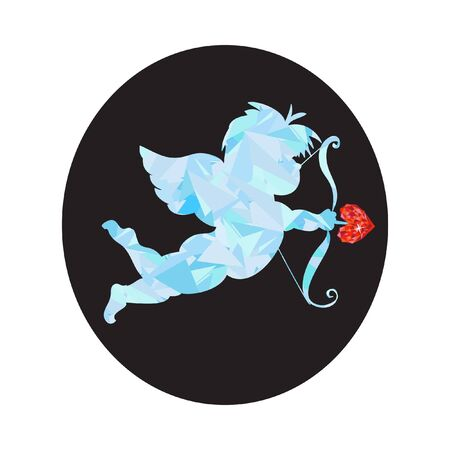 baby angel: San Valentino a basso Cupido poli con la gemma del cuore