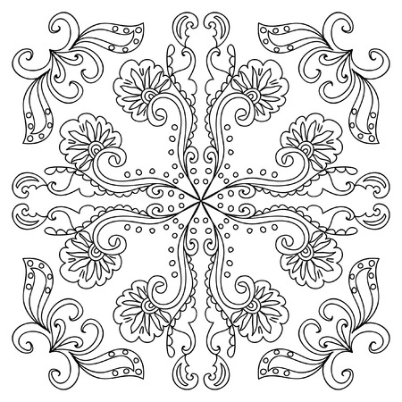 Decorative floral coloring page