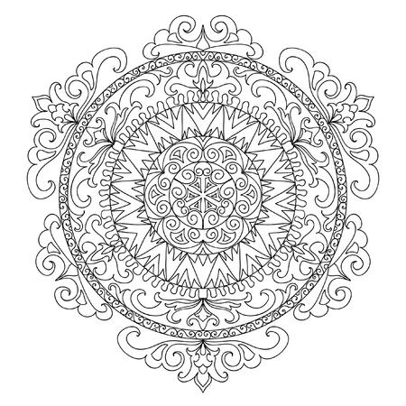 mandala: Ancient mandala coloring page