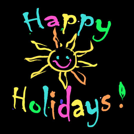 happy holidays: Happy Holidays Greeting card colorful
