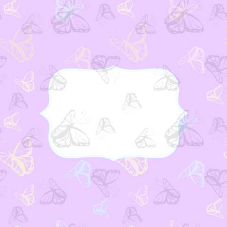 butterfly background: Greeting card with Butterfly  monochrome background Stock Photo