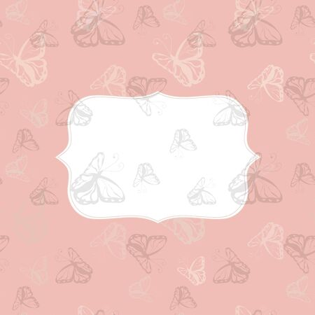 greeting card background: Greeting card with Butterfly  monochrome background Stock Photo