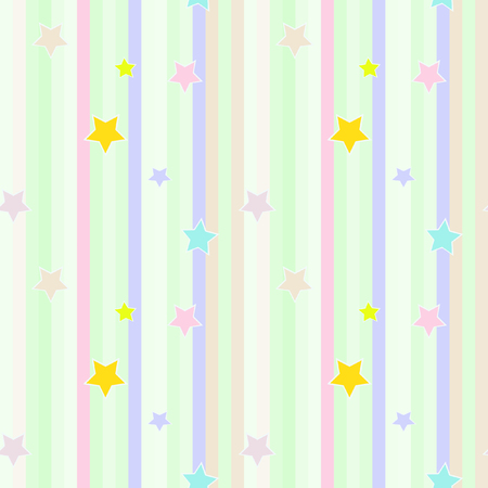 pastel colored: seamless pastel colored striped pattern with stars