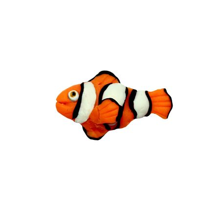 Plasticine  tropical   clownfish sculpture isolated