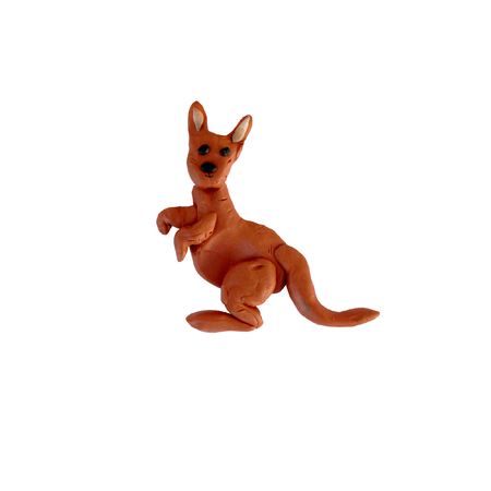 Plasticine  kangaroo  sculpture isolated