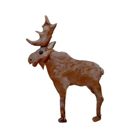 Plasticine  animal 3D  sculpture isolated