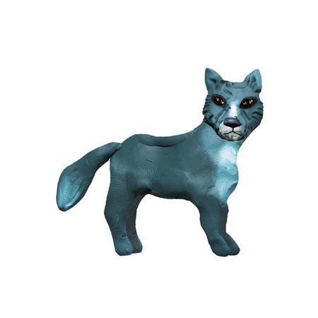 Plasticine  animal 3D  sculpture isolated