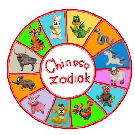 tigre cachorro: Colorido plastilina 3D animales del zodiaco chino Foto de archivo