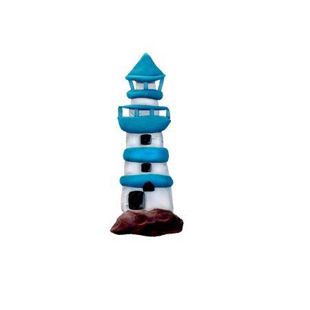 plasticine 3D lighthouse sculpture