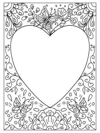 Valentine I Love You Quote Adult Coloring Page Stock Photo, Picture ...