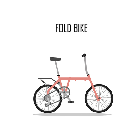 bycicle: bycicle vector , fold bike.