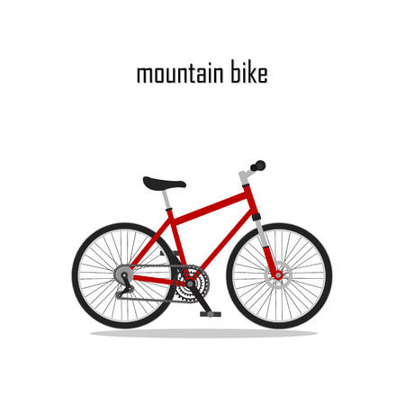 bycicle: bycicle vector, mountain bike with white background.