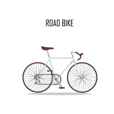 vecteur byciclette, vélo de route.