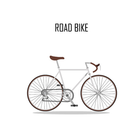 Fahrrad Vektor, Rennrad. Vektorgrafik