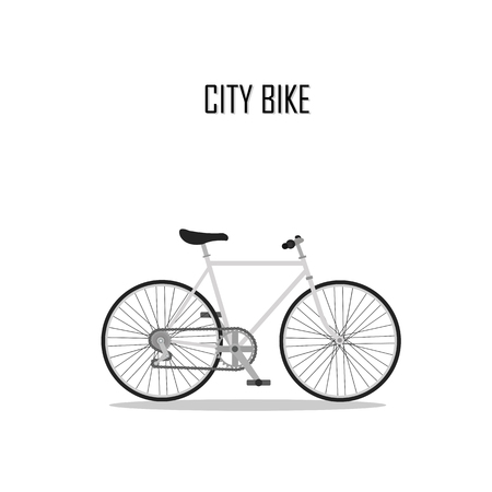 pedaling: bycicle vector , city bike.