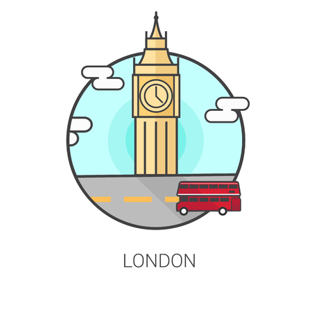 bigben: Bigben in London vector Illustration