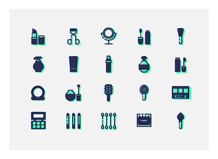 icons: Cosmetic icons vector.line icons. Illustration