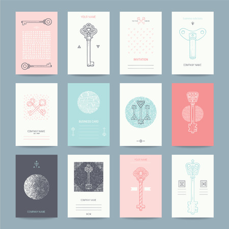 Creative templates collection of card design