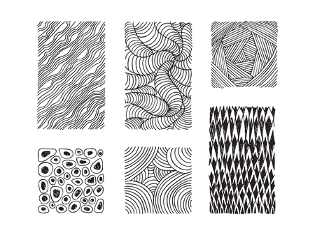 Hand drawn textures and brush strokes. Artistic collection of handcrafted design elements. Natural graphic patterns, wavy line textures, paint dabs, abstract backgrounds for prints, poster templates.
