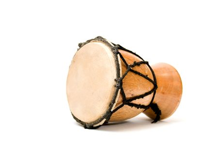 bongo drum: Bongo drum - isolated on white Stock Photo