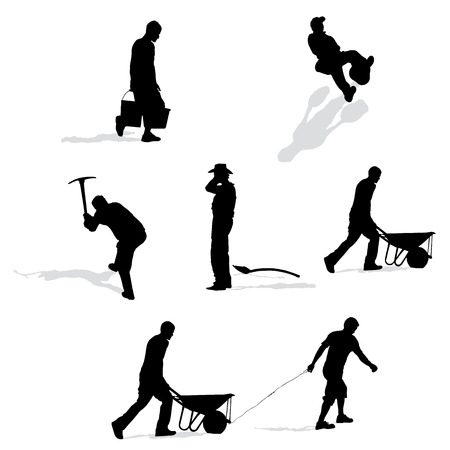 set of construction workers, vector illustration Vector