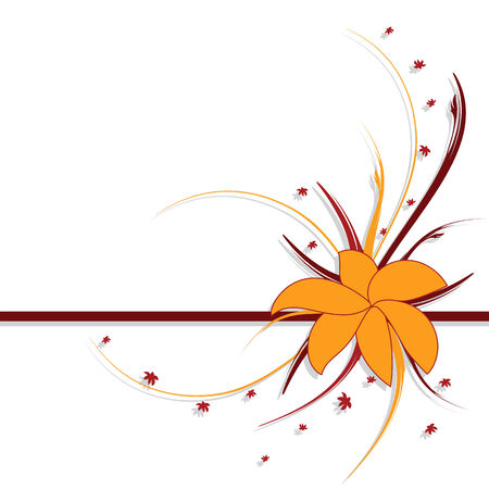 autumn flowers: floral design, autumn colors, abstract background