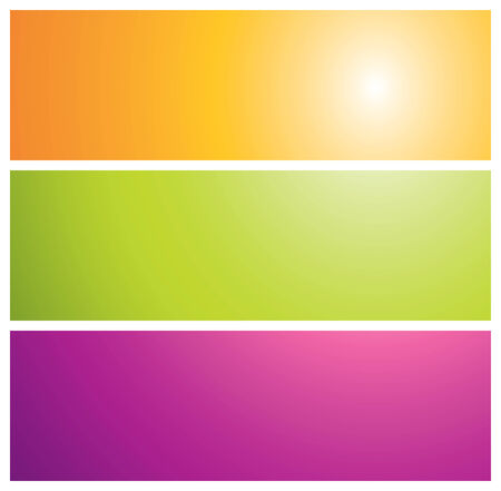 colorful sunburst banners, vector illustration Vector