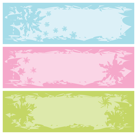 grungy banners with snowflakes, vector illustration Vector