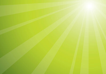 beautiful green sunburst, vector abstract background Illustration