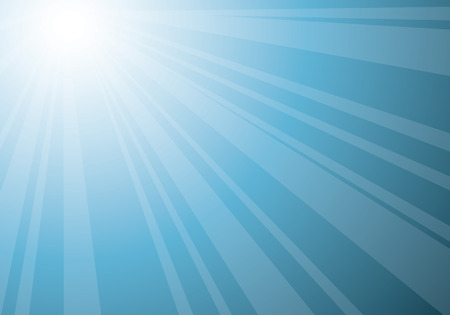 beautiful blue sunburst, vector abstract background Illustration
