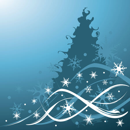 christmas background, vector illustration Stock Vector - 3682828