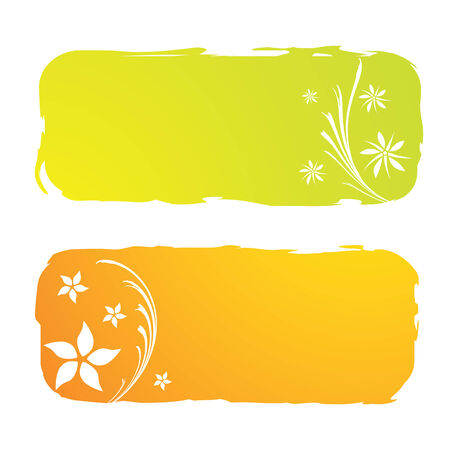 grungy floral banners, vector illustration Vector