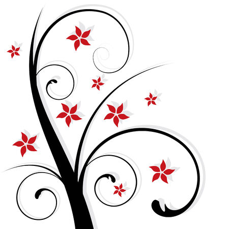 abstract floral design, vector illustration Stock Vector - 3792453