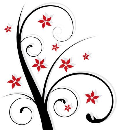 ornaments vector: astratto disegno floreale, illustrazione vettoriale