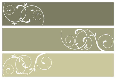floral banners, vector illustration Vector