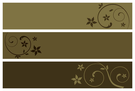 tone: floral banners, vector illustration