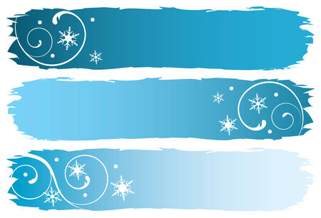 grungy winter banners, vector illustration Vector