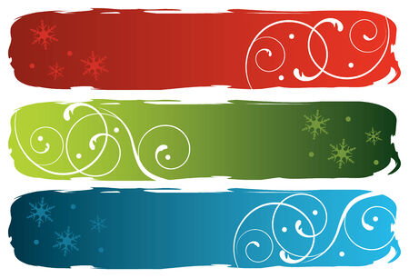 grungy winter banners, vector illustration Illustration
