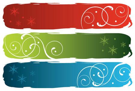 grungy winter banners, vector illustration Illustration