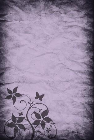 vintage paper background with romantic decoration photo
