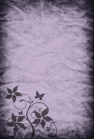 vintage paper background with romantic decoration photo