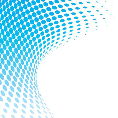 demi-fond bleu, illustration vectorielle