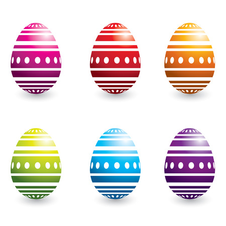 set of colorful easter eggs, vector illustration Vector