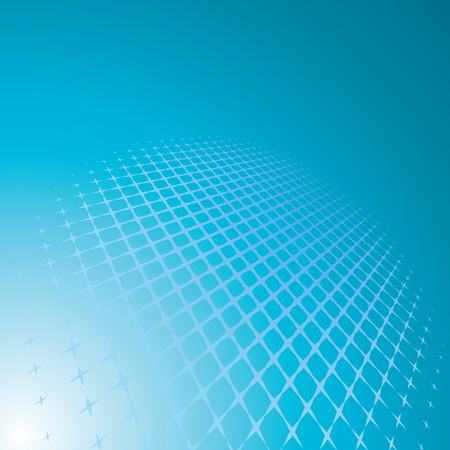 perspective grid: blue abstract background, vector illustration