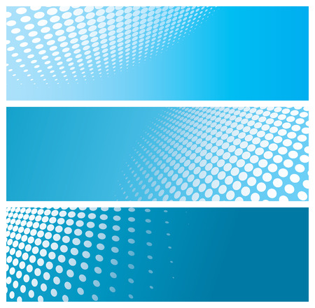 abstract halftone banners, vector illustration